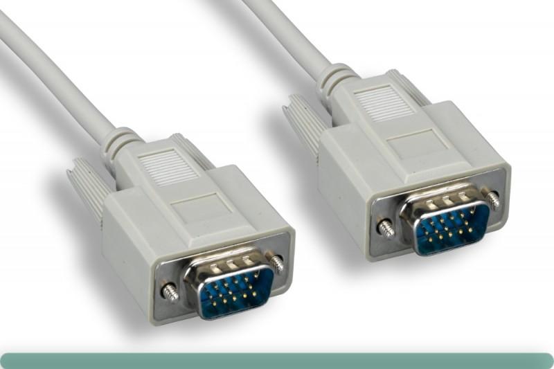 Standard VGA Cable M / M Beige Color