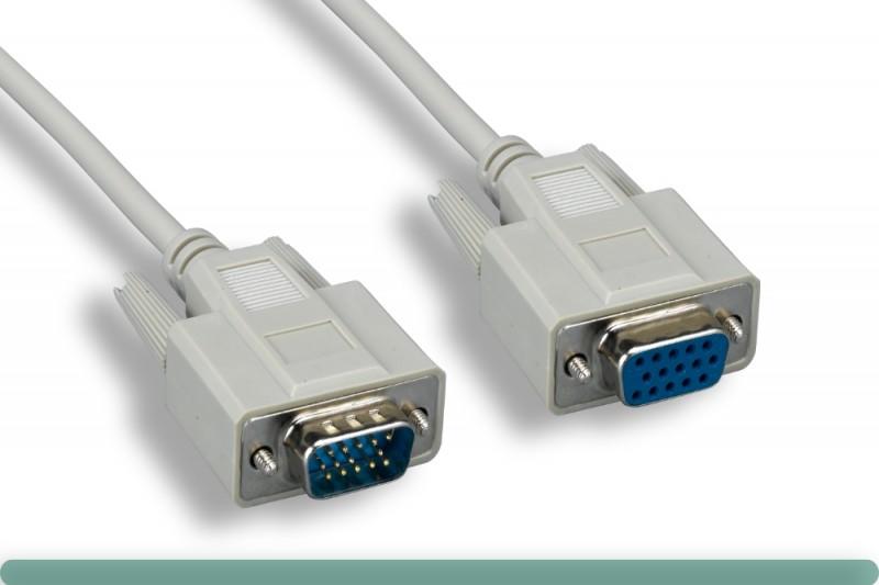 Standard VGA Cable M / F Beige Color