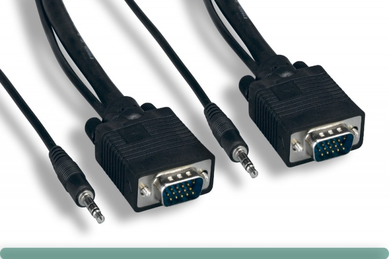 Super VGA Cable M / M with 3.5mm Stereo Audio