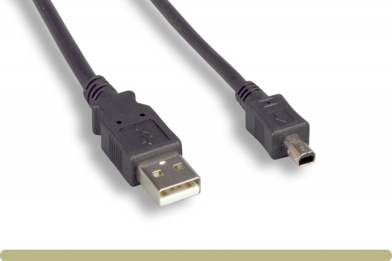 USB 2.0 A Male / Mini 4 Pin Male Cable