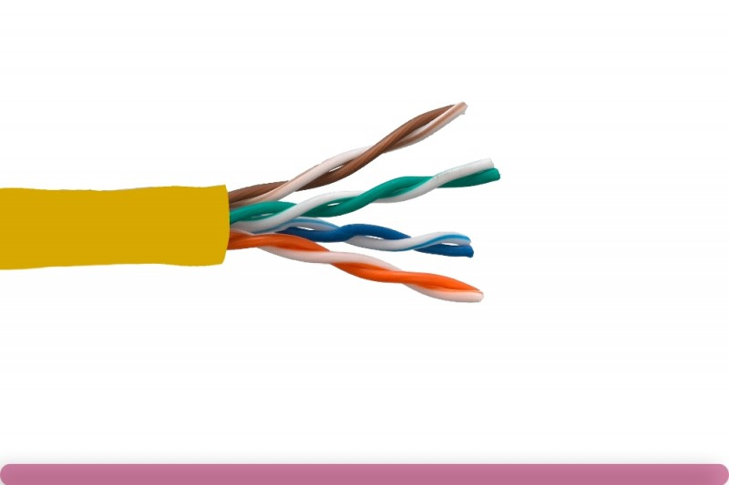 Cat. 5e UTP Solid Ethernet Bulk Cable 350MHz Yellow