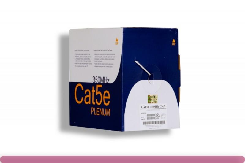 Cat. 5e Plenum Solid White Ethernet Bulk Cable 350MHZ