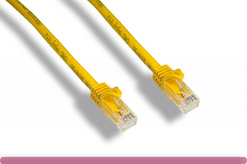 Yellow Color Cat 6a UTP Patch Cable