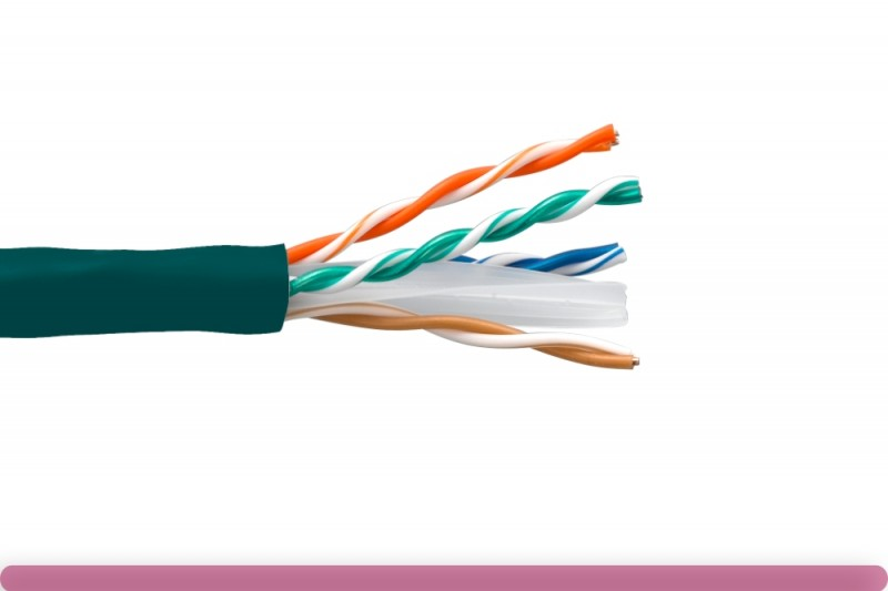 Cat. 6 CMR UTP Solid Ethernet Bulk Cable 550MHz Green