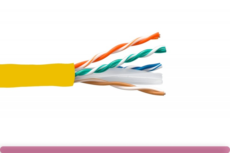 Cat. 6 UTP Solid Ethernet Bulk Cable 550MHz Yellow
