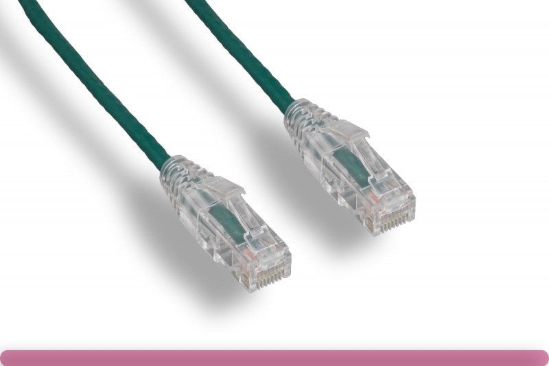 Green Slim Cat 6a UTP Patch Cable