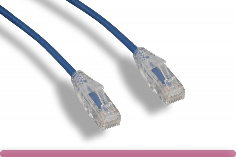 Blue Slim Cat 6a UTP Patch Cable