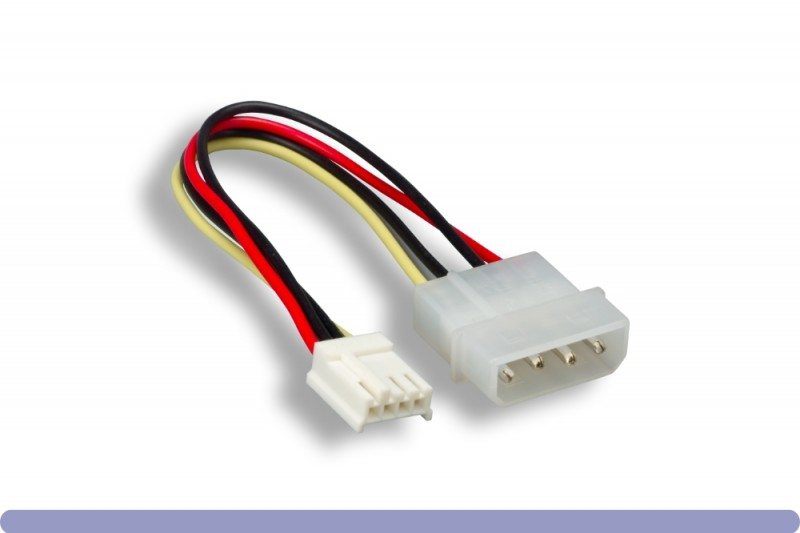 """5.25"""" Male / 3.5"""" Female Internal DC Power Cable"""