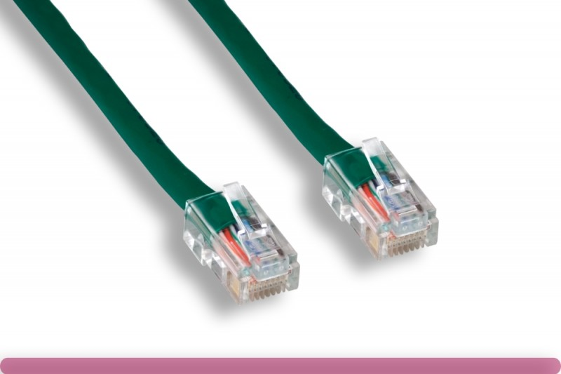 Green Color Non-Booted Cat 5e UTP Patch Cable
