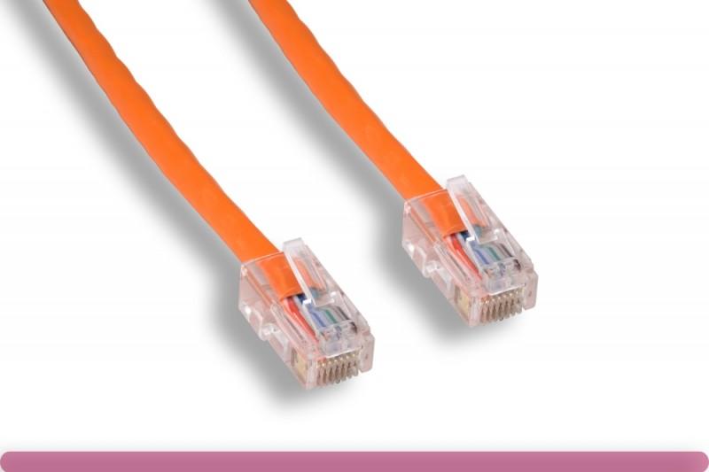 Orange Color Non-Booted Cat 5e UTP Patch Cable