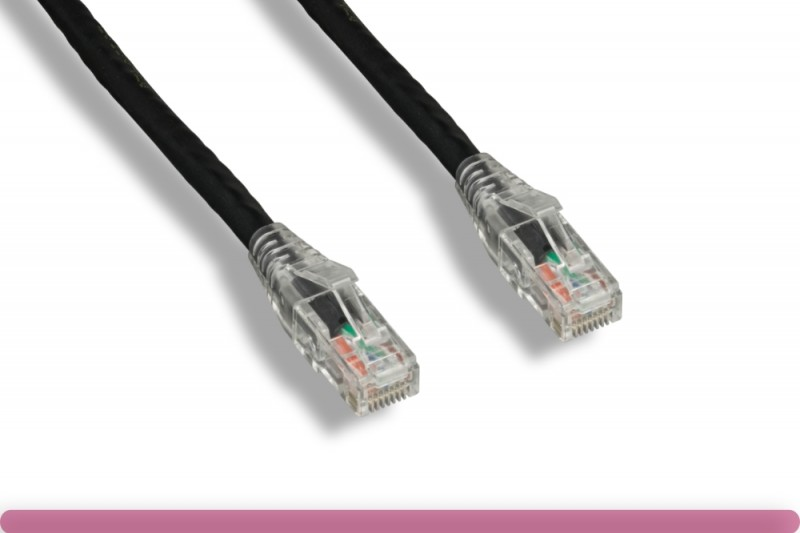 Cat 6 UTP Patch Cable with Clear Boot Black Color