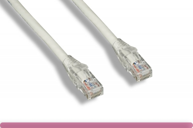 Cat 6 UTP Patch Cable with Clear Boot White Color