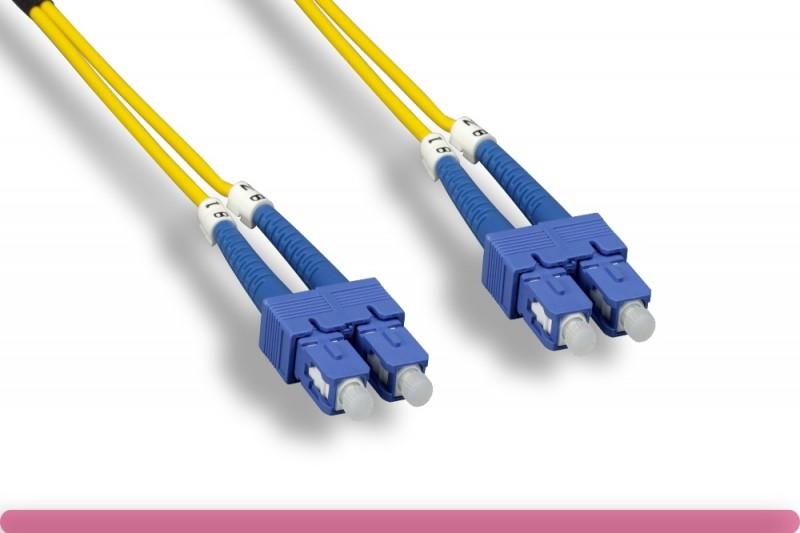 Duplex Single Mode SC / SC 9 /125 Fiber Optic Cable