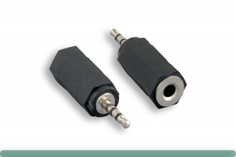 3.5mm Stereo Female to 2.5mm Stereo Male Adapter