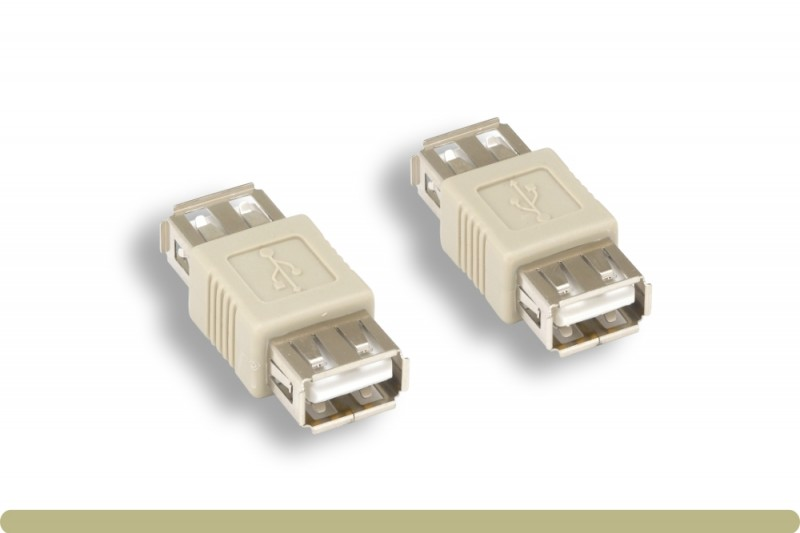 USB 2.0 Plug A Female to jack F//F gender changer Adapter Convertor Connector