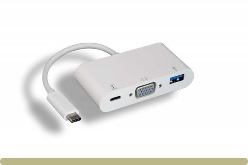 USB 3.1 Type C to USB 3.0 / VGA / Type C Charging Adaptor