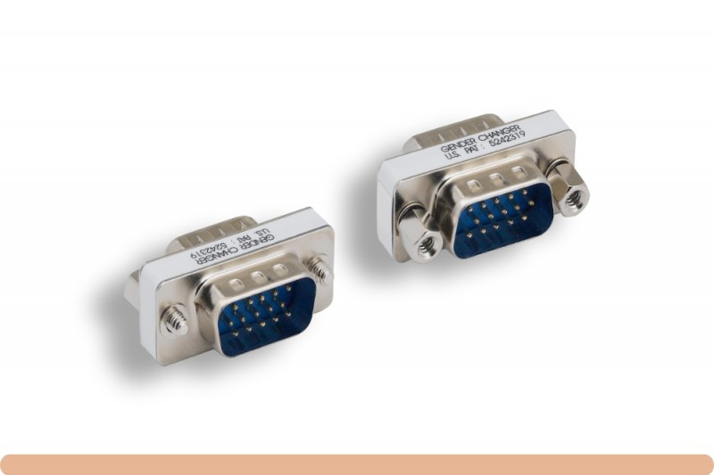HD15 to HD15 VGA Mini Gender Changer