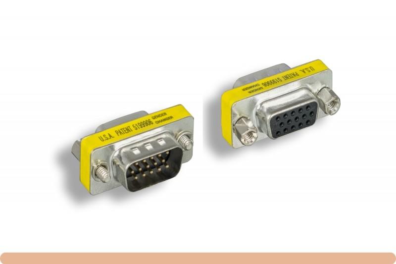 HD15 to HD15 VGA Mini Gender Changer