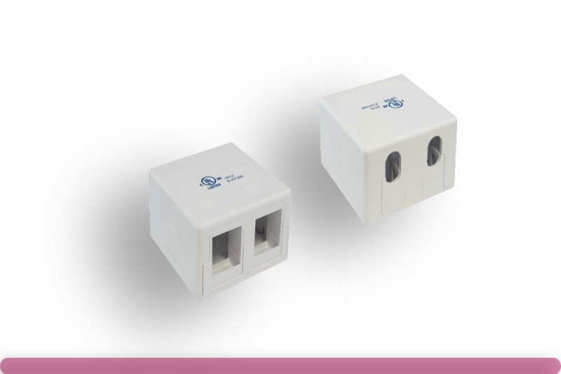 2 Port RJ-45 Surface Mount Box