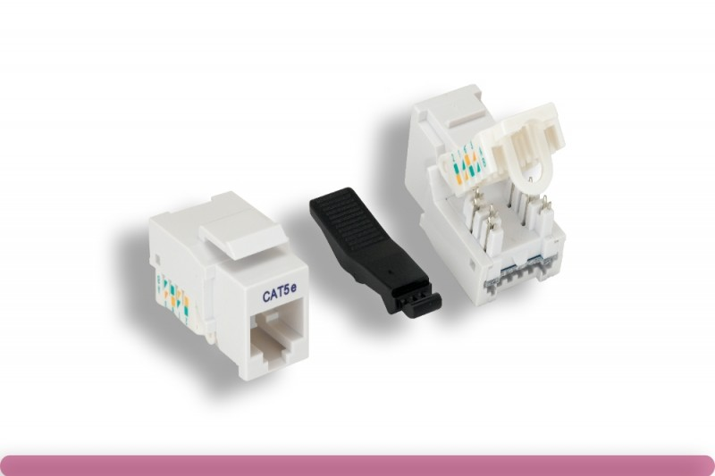 White Color Cat. 5e Tool-less Keystone Jack