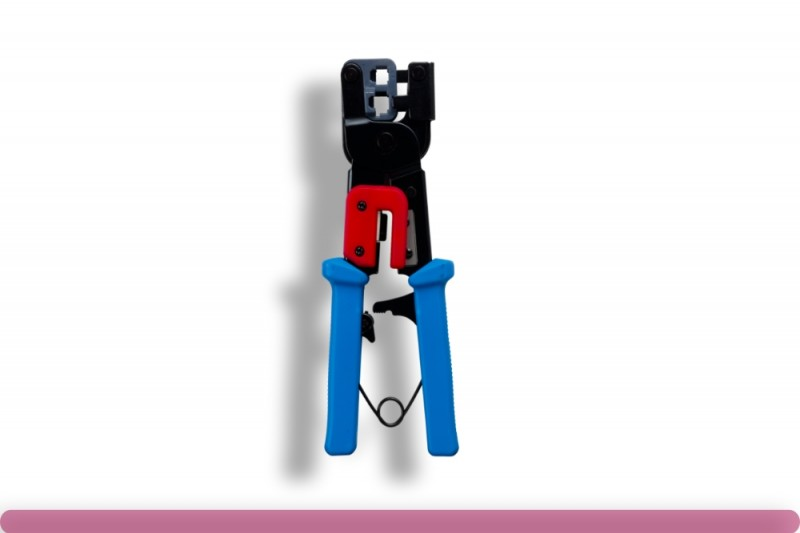 RJ-11/RJ-12/RJ-45 Modular Plug Crimping Tool with Ratchet