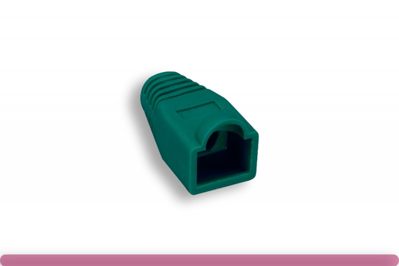 RJ45 Strain Relief Boot Green Color