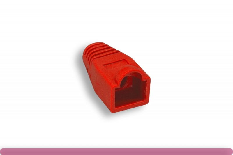 RJ45 Strain Relief Boot Red Color