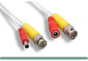 BNC Video & Power Cable 28AWG White