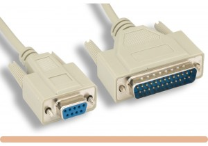 DB9 F to DB25 M AT Modem Cable
