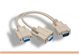 RS-232 DB9 M to F x 2 Splitter Cable
