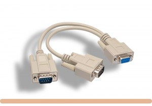 RS-232 DB9 F to M x 2 Splitter Cable