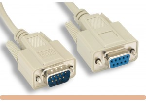 DB9 M / F Null Modem Cable