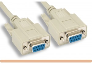 DB9 F / F Null Modem Cable