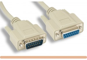 DB15 M / F Serial Extension Cable