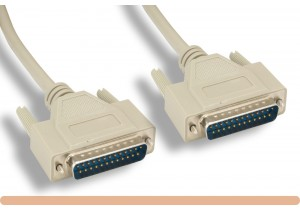 RS-232 DB25 M / M Serial Cable