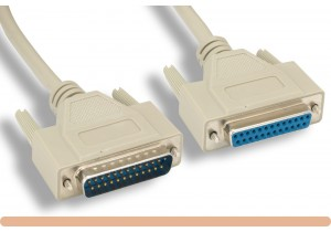 RS-232 DB25 M / F Serial Cable