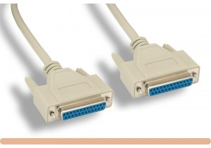RS-232 DB25 F / F Serial Cable