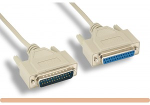 DB25 M / F Null Modem Cable