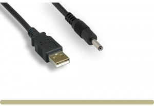 USB 2.0 A Male to DC 3.5 mm x 1.35 mm Power Cable