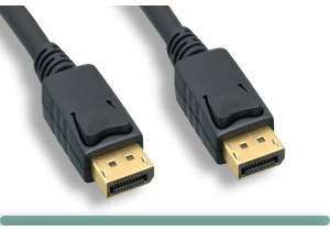 24 AWG., DisplayPort to DisplayPort Cable with Latch