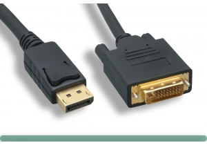 DisplayPort to DVI Cable with Latch
