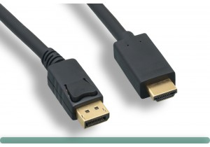 DisplayPort to HDMI Cable 4K with Latch