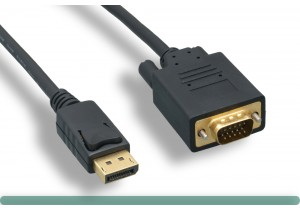 DisplayPort to VGA Cable with Latch