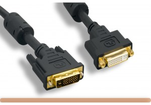 DVI-D M to DVI-D F Dual Link Digital Video Extension Cable
