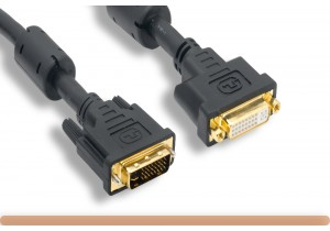 DVI-I M to DVI-I F Dual Link Video Cable