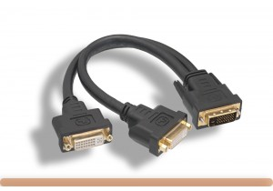 DVI-D M to 2*DVI-D F Dual Link Splitter Cable