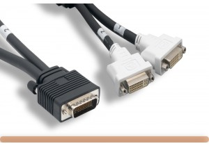 DMS-59 M to 2*DVI-I F Dual Link Splitter Cable