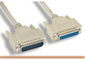IEEE-1284 DB25 M to DB25 F Parallel Printer Cable
