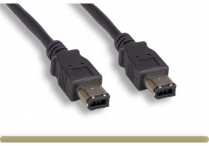 IEEE-1394a 6P to 6P Cable, Black Color