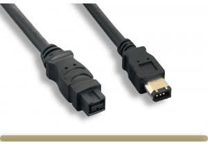 IEEE-1394b 9P to 6P Cable, Black Color